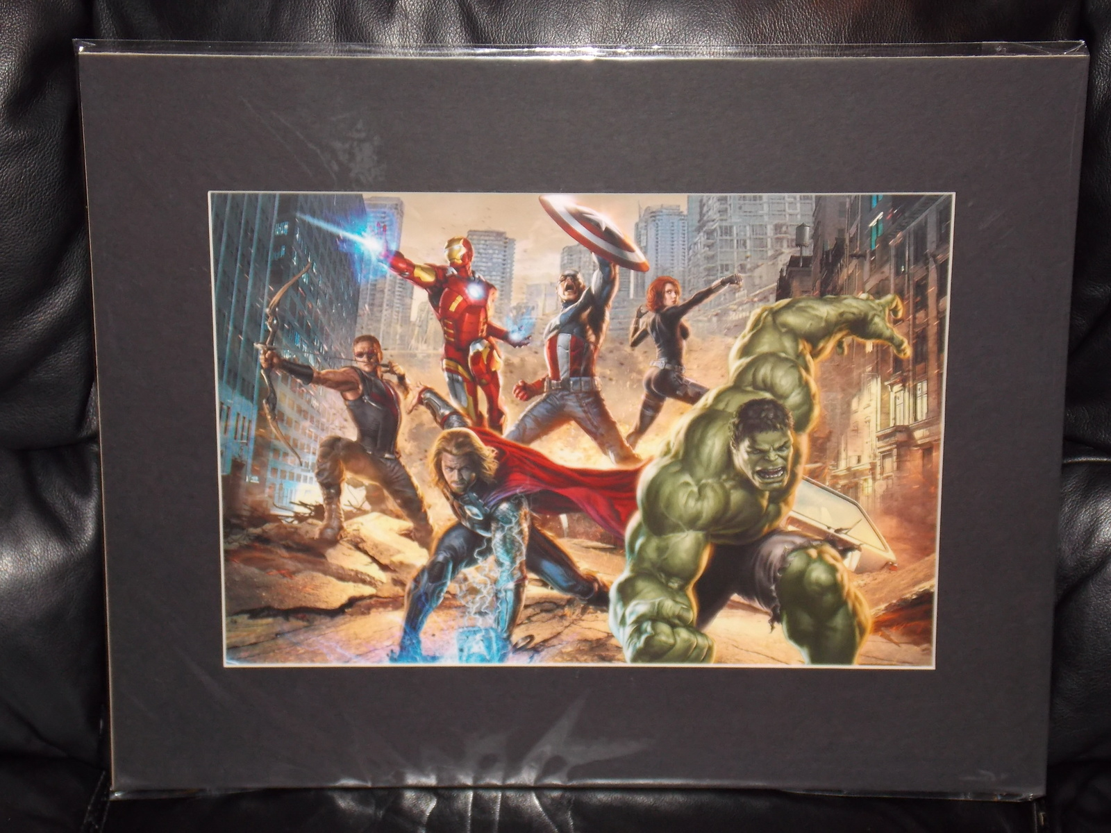 Primary image for Marvel Avengers Matted Print 16 x 20 New