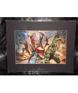 Marvel Avengers Matted Print 16 x 20 New - $24.99