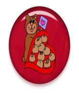 Bear Candy Hearts Brad Red Glass-Digital Downlo... - $3.00