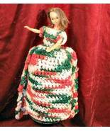 "14""  Hand Made Barbie Doll Crocheted Craft Dress Gown Hawaiian Hula Danc... - $31.77"