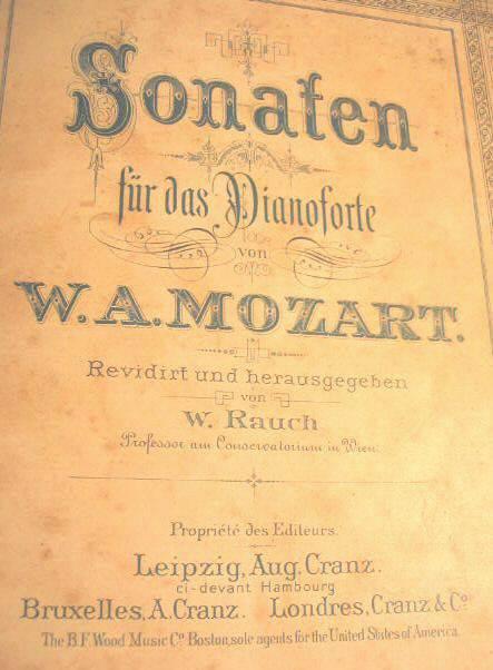 1881 Mozart Piano Sonaten Leipzig Music Book Sonatas
