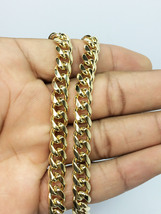 """Men's 30"""" 7 MM 14K Yellow Gold Finish SOLID Cuban Link Chain Heavy  - $25.49"""