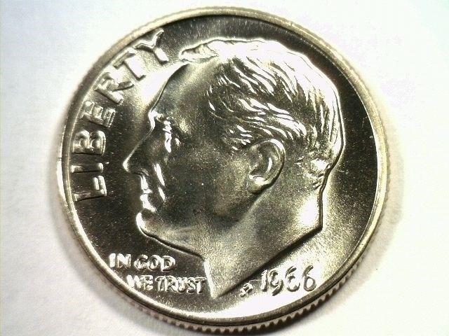 1966 ROOSEVELT DIME SPECIAL MINT SET SMS SUPERB UNCIRCULATED SUPERB UNC. NICE - $29.00