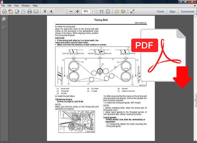2001 - 2007 Subaru Impreza Factory Oem Service Repair Manual   Wiring Diagram