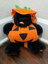 "Build-A-Bear 14"" Black Shimmer Halloween Cub Plush with Pumpkin Outfit  - $38.69"