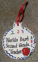 Teacher Gifts  9002 Worlds Best Second  Grade Teacher Ornament - $1.95
