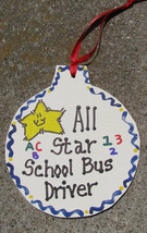Teacher Gifts  9015  All Star School Bus  Ornament - $1.95