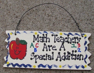 Primary image for Teacher Gifts  Wood Sign 15321 Math Teachers Are A Special Addition