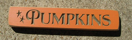 Primitive Country 9P Pumpkin Wood Block  - $4.95