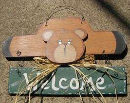 Country Crafts  903BG Welcome Bear Green Banner - $5.95
