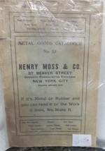 Henry Moss & Co. Catalog - $24.50