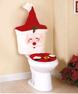 3-Pc. Santa Toilet Set with Sound Christmas Indoor Decoration Gift - $39.99