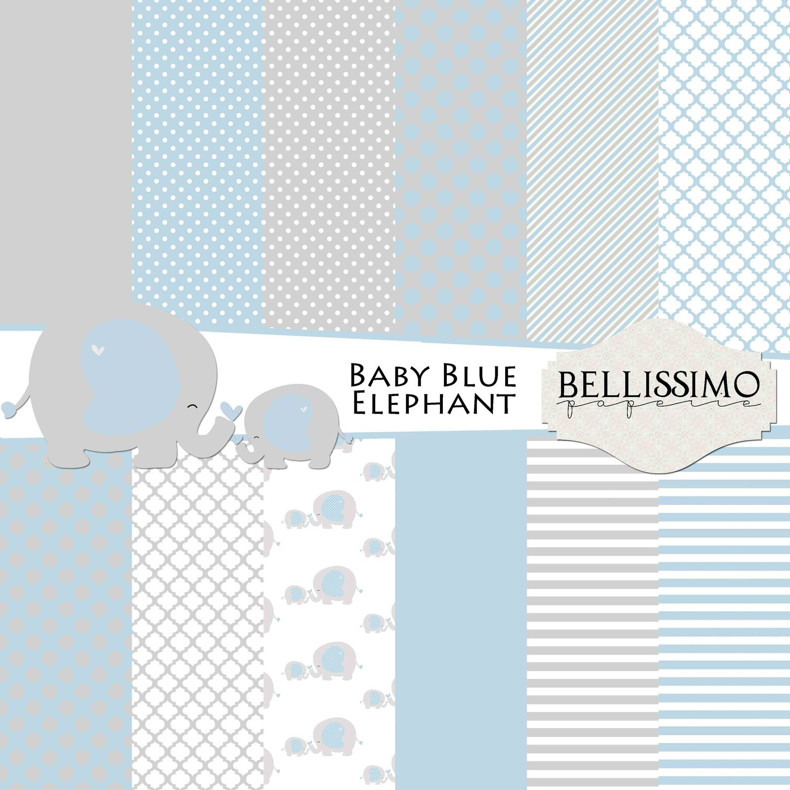 Blue elephant paper pack