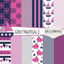 Nautical - GIRL - Paper Pack 2: Scrapbook Paper, PRINTED, 12 Sheets - $7.00