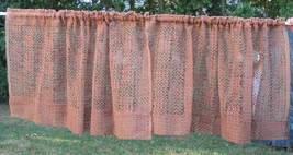 4pc Vintage Linen Fabric Curtains Drapes Lace Chic - $28.50