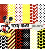 Mickey Mouse Paper Pack: Scrapbook Paper, PRINTED, 12 Sheets - $6.50