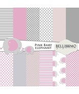 Pink Elephant Baby Girl  Paper Pack: Scrapbook Paper, PRINTED, 12 Sheets - $6.50