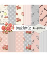Romantic Shabby Chic Paper Pack: Scrapbook Paper, PRINTED, 12 Sheets - $6.50
