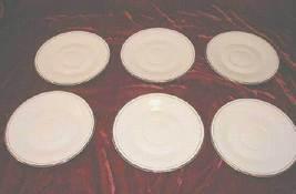 6 Baum Bros Porcelain Desert Plate Plates Dinnerware - $38.50