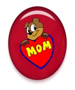 MoM Heart Brad Red Glass-Digital Download-Clip... - $3.00