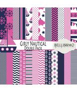 Nautical Girl Double Paper Pack: Scrapbook Paper, PRINTED, 24 Sheets - $12.00