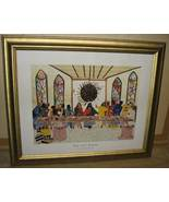 "Allen Stringfellow The Last Supper Gold Framed Art Print Poster 24""x20"" - $87.99"