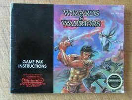 Wizards & Warriors Nintendo NES Video Game Instruction Manual - $4.94