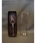 """Initial  """"K"""" Crystal Type Wine Bottle Stopper Chrome Base - $5.89"""