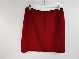 GAP Womens Skirt Size 8 Red Black Satin Trim A-Line EUC - $11.52