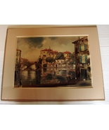 Vintage Venetian Venice Italy Print-Claude Dorval, signed and Matted. - $52.00