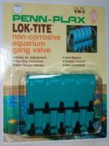 PENN PLAX LOK-TITE 5 1/2 PLASTIC NON-CORROSIVE AQUARIUM GANG VALVE NEW - €6,15 EUR