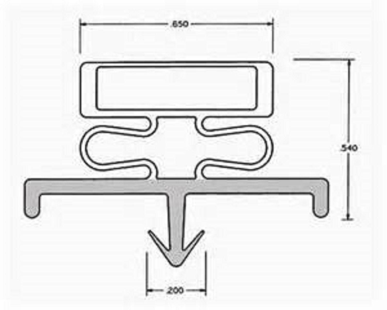 delfield refrigeration door gasket part tbp30037 size 15. Black Bedroom Furniture Sets. Home Design Ideas