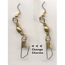 * ADD CHARMS EARRINGS * - Change/Switch Charm Gift Jewelry -L - $5.97