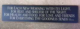 Primitive Country T2046F For Each New Morning  Wood Sign - $34.95