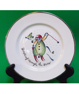 Holiday Sale!  Dashing Through The Snow Plate By Rosanna, Made In Italy - $1.95