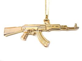 AK-47 Assault Rifle Pendant Necklace - $19.99