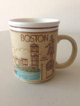 Vintage Boston Mug USS Constitution Paul Revere Faneuil Hall Skyline Cof... - $12.82