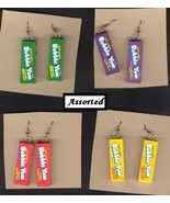 BUBBLE YUM FUNKY EARRINGS-Chewing Gum Junk Fun Food Jewelry- 1-Pair from... - $5.97