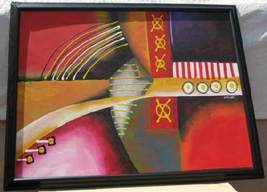 Frank Walcutt Tic Tac Toe Painting Canvas Framed Signed - $99.99