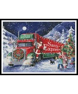 Santa Express christmas cross stitch chart Artecy Cross Stitch Chart - $14.40