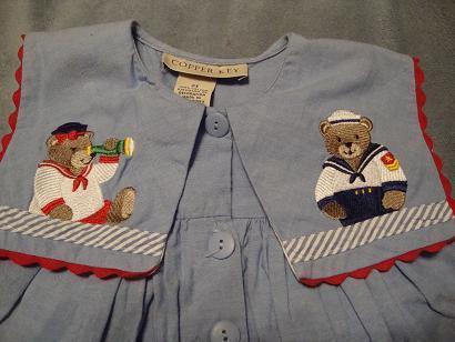Copper Key girls Sailor Bear Dress size 2T