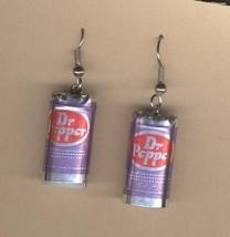 DR PEPPER CANS EARRINGS - Soda Pop Drink Fast Food Charm Jewelry - $6.97