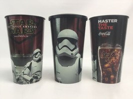 "STAR WARS The Force Awakens Movie Theater Promo Cup 7.5"" Tall Plastic Lo... - $21.55"