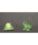 FROG TOAD EARRINGS - 3d Resin Pond Bull Frog Charm Funky Jewelry - $6.97