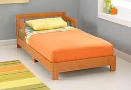 KidKraft 76241 Kids Bedroom Houston Wood Toddler Bed w/Side Rails Honey NEW - $86.95