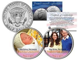 PRINCESS CHARLOTTE of Cambridge 2015 JFK Kennedy Half Dollar US 2-Coin S... - $14.80