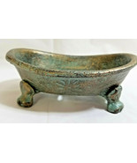 "Metal Cast Iron Old Fashion Bath Tub Soap Holder Bathroom Decor 2"" Tall - $26.95"