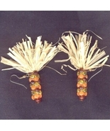 INDIAN CORN BEAD EARRINGS-Thanksgiving Harvest Maize Fun Jewelry - $9.97