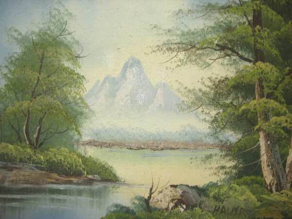 Lake Forest Scenery Oil Painting Canvas Frame Anco Bilt