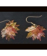 MAPLE LEAF LEAVES EARRINGS-Thanksgiving Fall Tree Canada Jewelry - $6.97